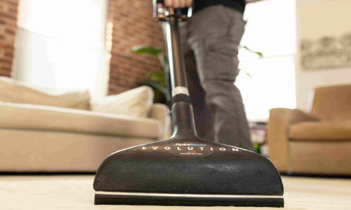 Trained carpet cleaning technician for carpts to dye for